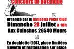 Concours de Pétanque GPC ! Le 28 juillet à 10h