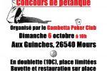 Concours pétanque GPC – Dimanche 06 octobre !